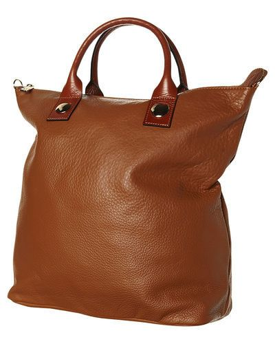 Pigeon Hole Julie Leather Tote: Tan