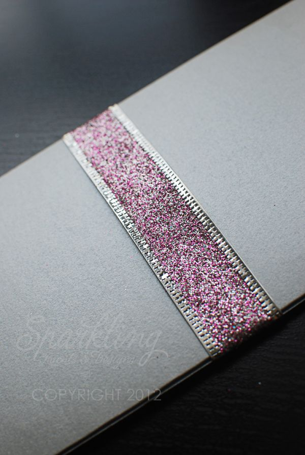 Real Invitations Silver and Pink Boarding Pass