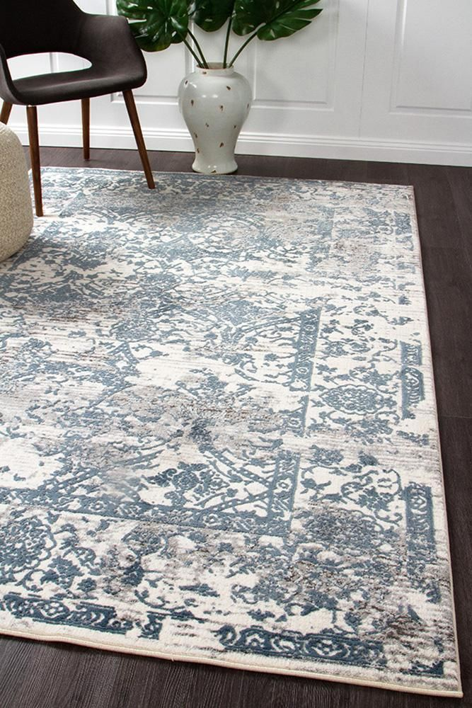 Mist Classic Transitional Rug Blue And White Rug Modern Rugs Blue White Rug