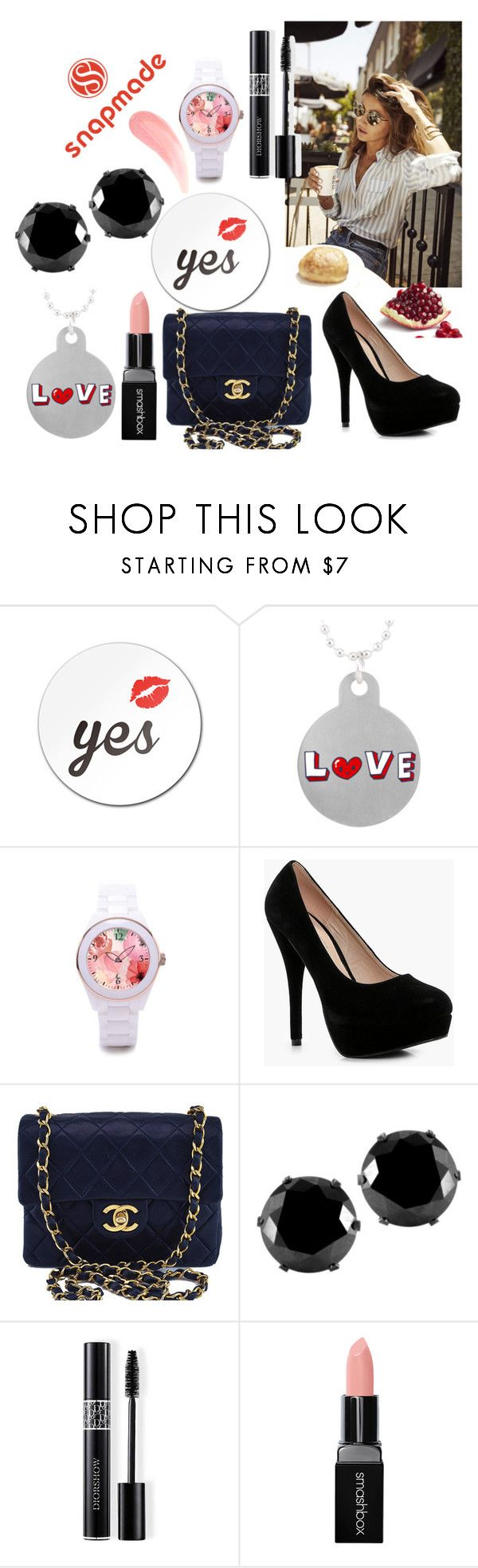 """""""snapmade"""" by meri55 ❤ liked on Polyvore featuring Boohoo, Chanel, West Coast Jewelry, Christian Dior and Smashbox"""