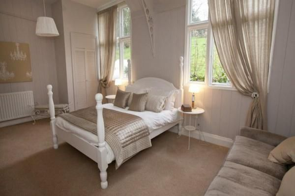 Sumptuous French styled double bed room at the School House Sandsend. www.iknow-yorkshire.co.uk
