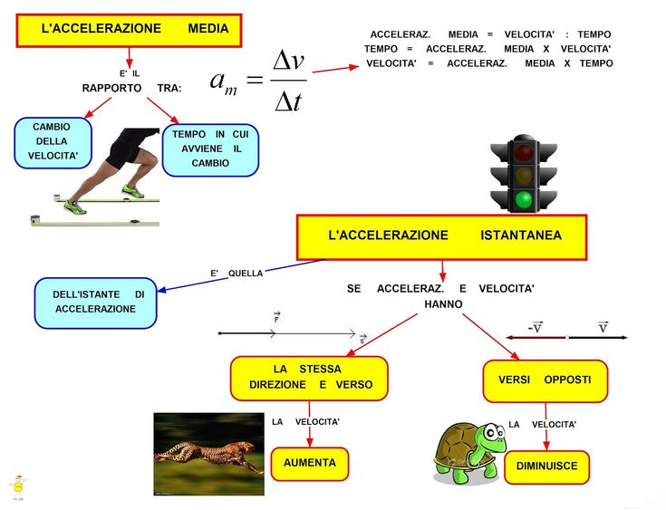 Mappa Concettuale: L'accelerazione  #appunti #università #fisica