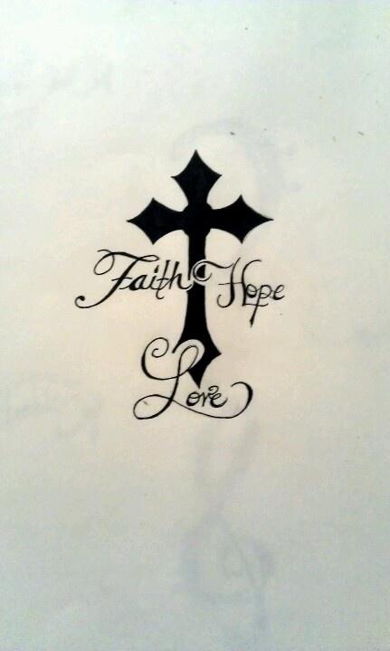 The tattoo i want for Faith cross tattoos