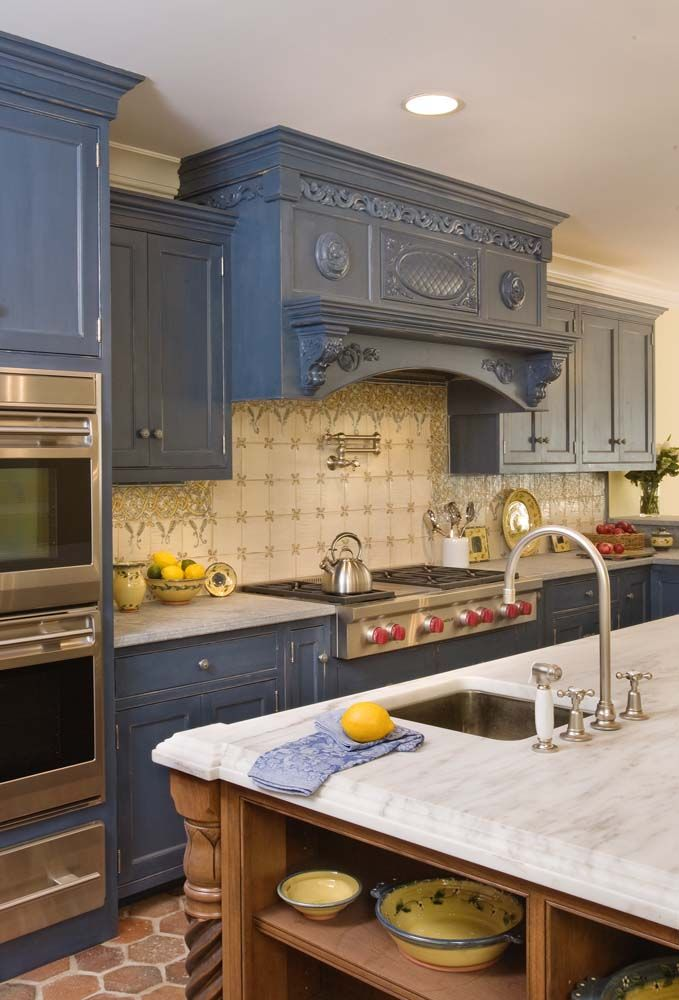 Idea of the Day Blue Kitchen By