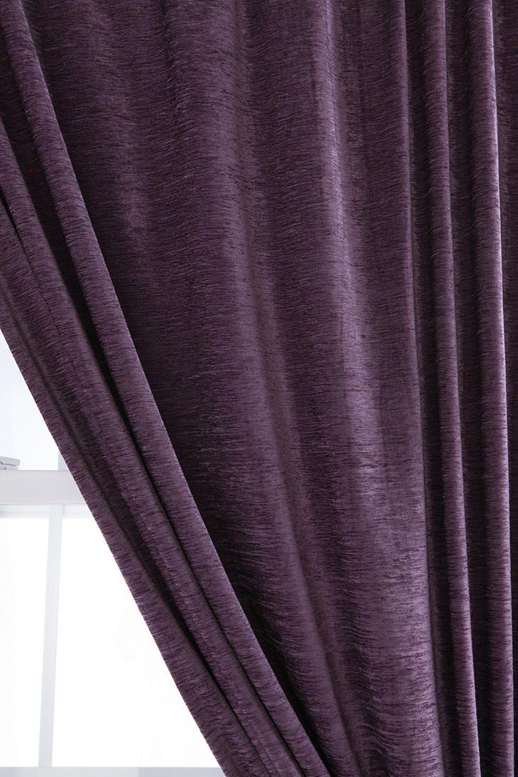 Textured Velvet Curtain $49.00-$59.00   color   cassis purple   Pinte ...