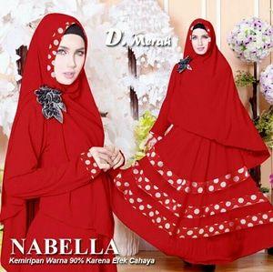 gamis spandek nabella merah