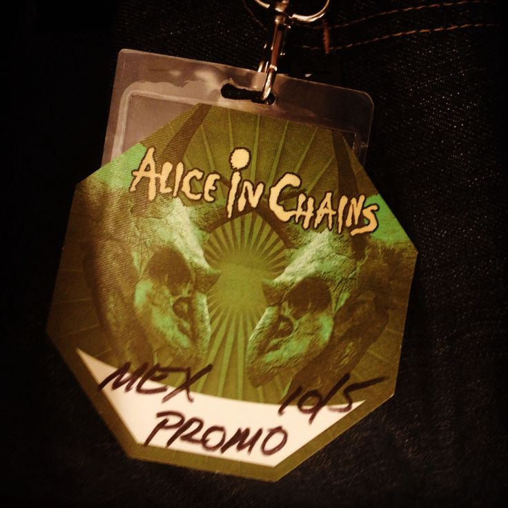Alice in chains backstage pass