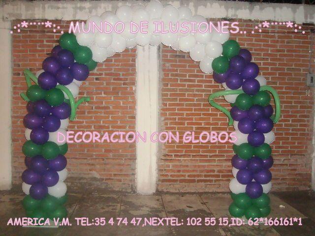 ARCO TEMATICO PRIMERA COMUNION (6MTS) - DECORACION CON GLOBOS ...