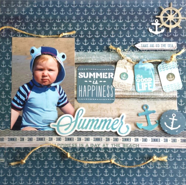 'Summer' Layout by Amanda Baldwin [Kaisercraft 'Sandy Toes' Collection] -- Wendy Schultz ~ Scrapbook Pages 1.