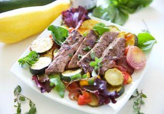 Italian Vinaigrette Steak and Roasted Veggie Salad