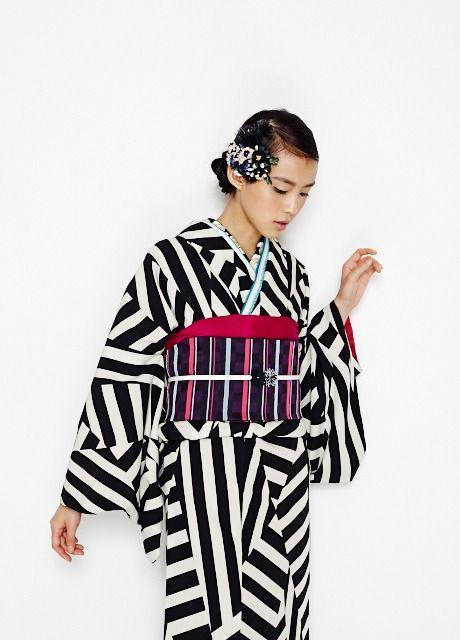 Furifu ふりふ kimono collection - Red or black model - 2014