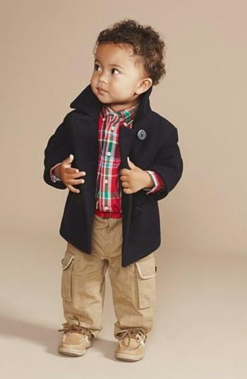 Pea coat and cargo pants = classic style!