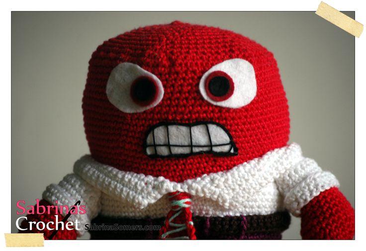 Inside Out Amigurumi Patterns : Sabrinas Crochet: Anger (Inside Out) Amigurumi ...