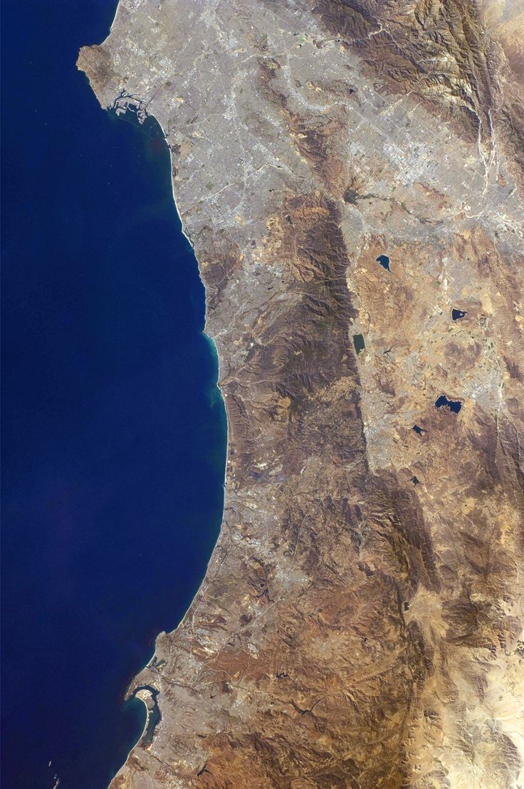 Southern California's coastline  from southern Los Angeles to Tijuana in Mexico,  a distance of about 225 kilometers.
