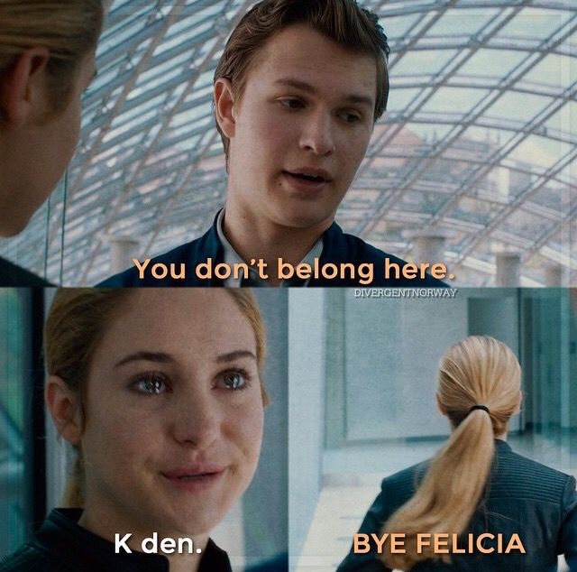 "I LAUGHED SO HARD OMG ""BYE FELICIA"" -- repin if you understand that joke about Shai."