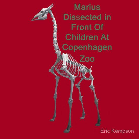 Marius Dissected In Front Of Children At Copenhagen Zoo  T Shirts & Hoodies. ipad & iphone cases