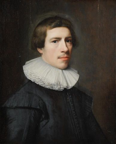 Attributed to Jan Daemen Cool (Rotterdam 1589-1660) Portrait of a gentleman, bust-length, in black costume and white ruff oil on panel 65.1 x 53.2cm (25 5/8 x 20 15/16in).