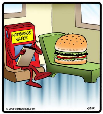 The Character Therapist: Weekend Funnies: Even Hamburgers Need Help....