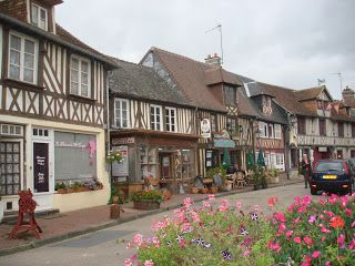 Our lunchtime stop in Normandy