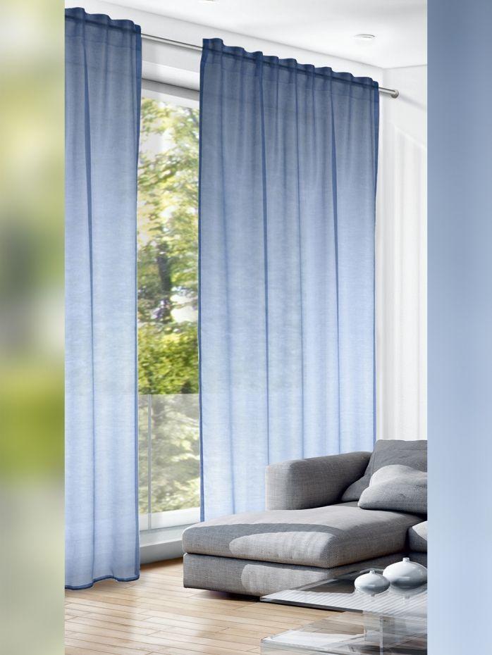 Fertigschal Maxi Blau 280cm Haus Deko Fertiggardinen Und Gardinen Waschen