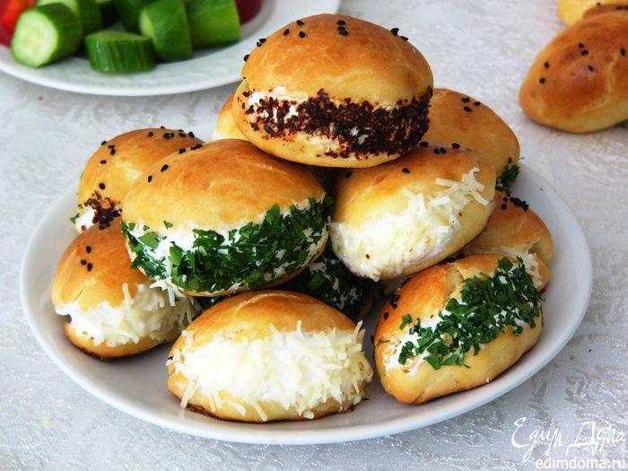 """Пирожки разрезные """"Бородатые"""". Оригинальные пирожки станут прекрасным завтраком или ссобойкой. #edimdoma #recipe #cookery"""