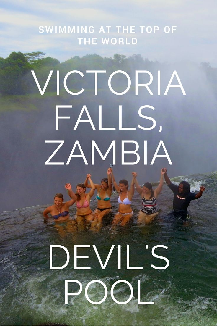 Like extreme adventure travel? Try the Devil's Pool at Victoria Falls, Zambia. It's the ultimate thrill. http://wanderingcarol.com/victoria-falls-devils-pool-extreme-adventure-vacations/