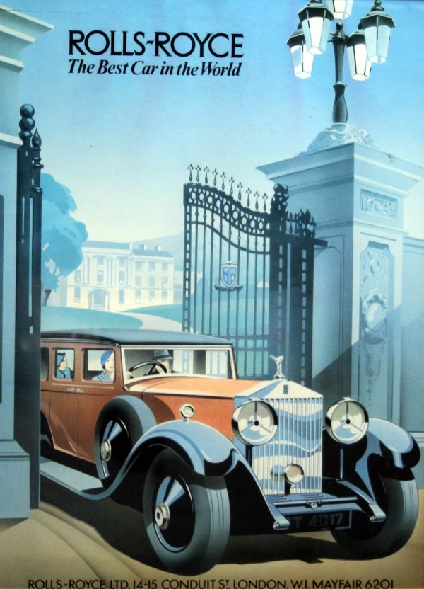 Original Vintage Posters -> Advertising Posters -> Rolls Royce - AntikBar