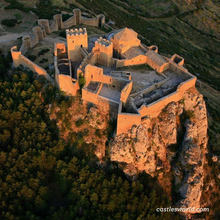 Castle of Loarre, #Huesca, #Spain One of the oldest castles in Spain, it was built largely during the 11th and 12th centuries, when its position on the frontier between Christian and Muslim lands gave it strategic importance. The entire complex consists of a Romanesque Castle and an Abbey. It appeared in the epic film Kingdom of Heaven