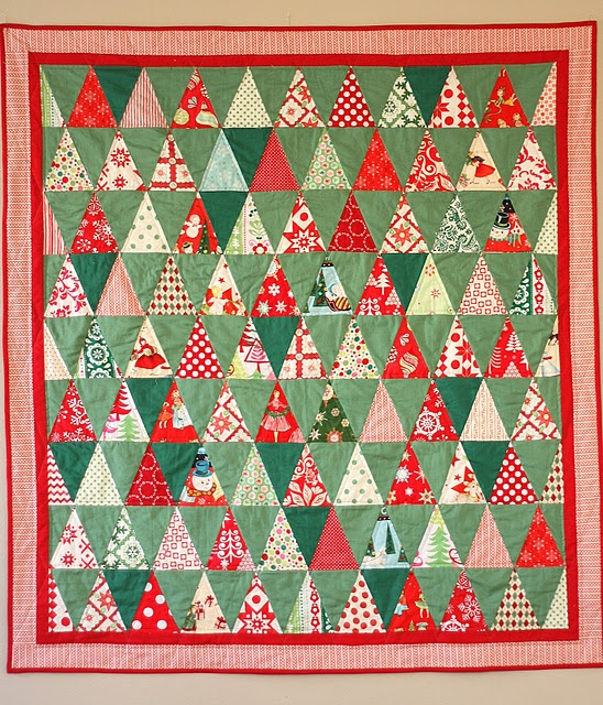 that retro green with the red and white---yum!  from diary of a quilter