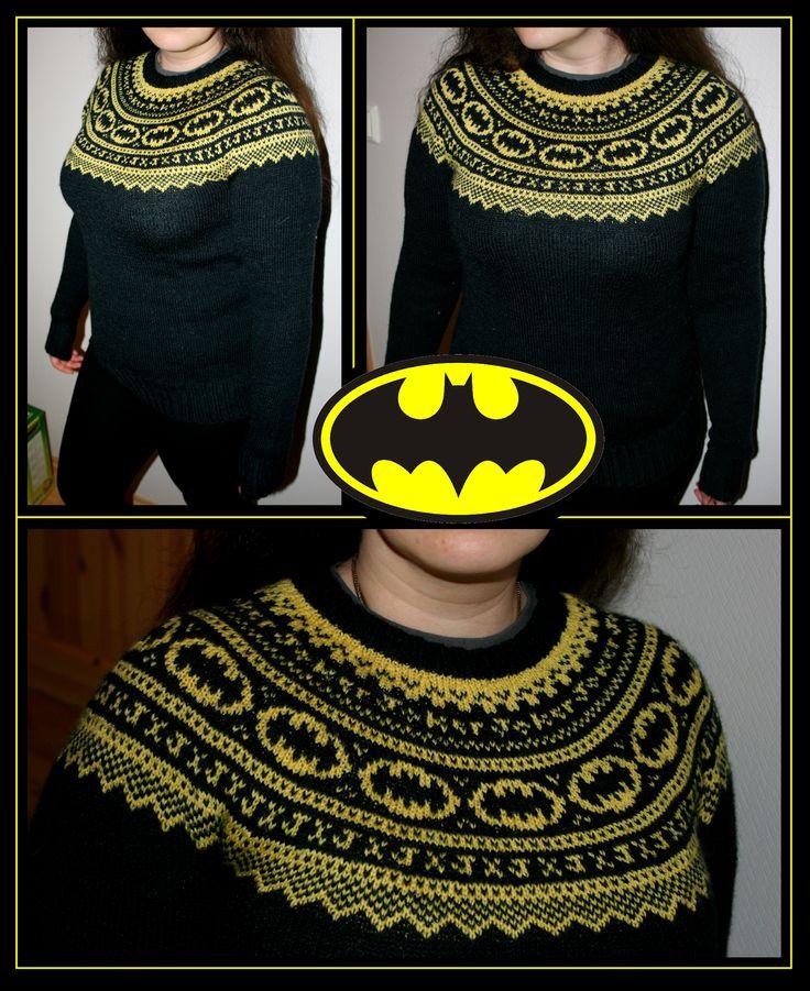 batman fair isle - so awesome