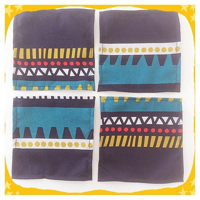 More #coasters #posavasos #marimekko #designfabric #sewing #coser What to do with #scrapmaterial #handmade #hechoamano #oneofakind #piezasunicas #unique #vhga #granalacant #recycle #recycled #reciclajecreativo #reciclajeconestilo