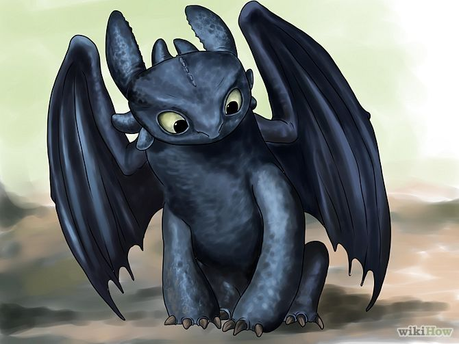 How to Draw Toothless: 24 Steps (with Pictures) - wikiHow