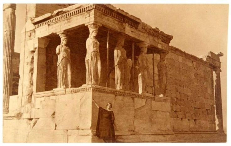 Isadora Duncan at the Erectheon, Acropolis, Athens (gelatin silver print, 1921)– Edward Steichen Gary Edwards collection of photographs of Greece http://archives.getty.edu