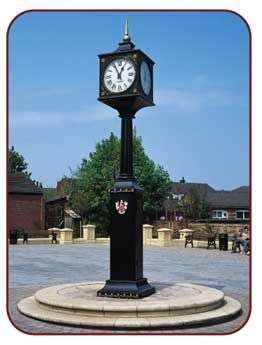 Pillar clock - Berkley Pillar Clock with four rear-illuminated dials, bespoke…