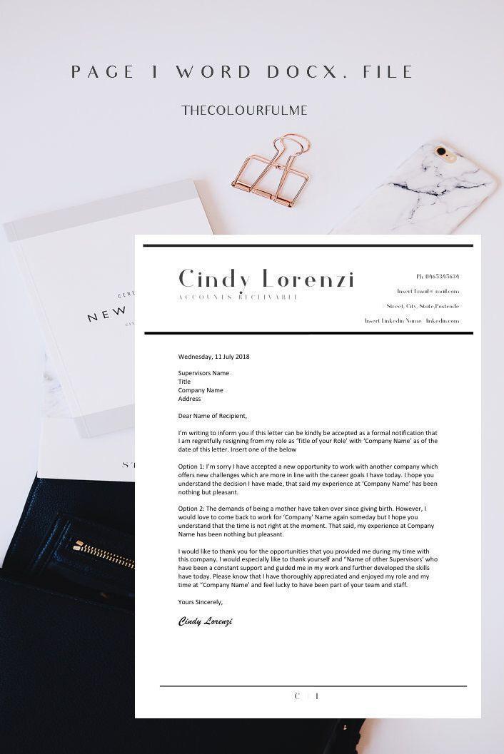 Resignation Letter Template Termination Letter