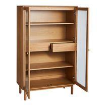 Vitrina de madera con 4 estantes y 2 cajones Larsson