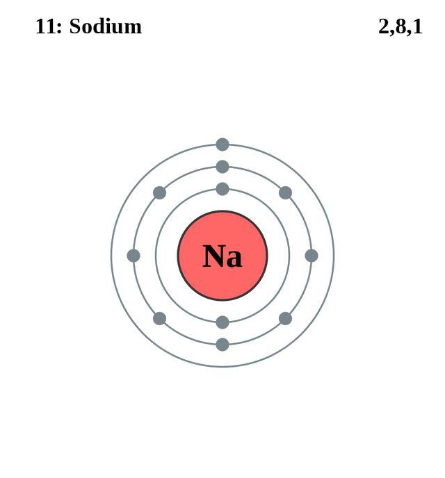 sodium atomic diagram | Diarra