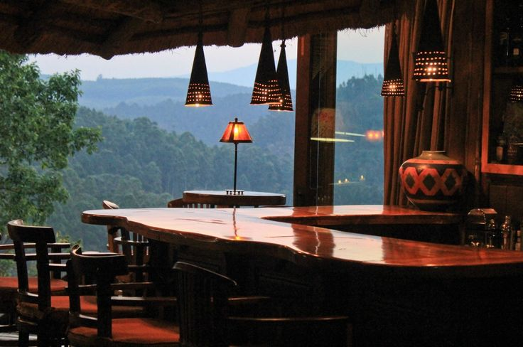 Beautiful... scenic... landscapes... Magnificent view from the private guest-only bar at Tanamera Lodge. Find Tanamera between Sabie and Hazyview, Mpumalanga, South Africa.