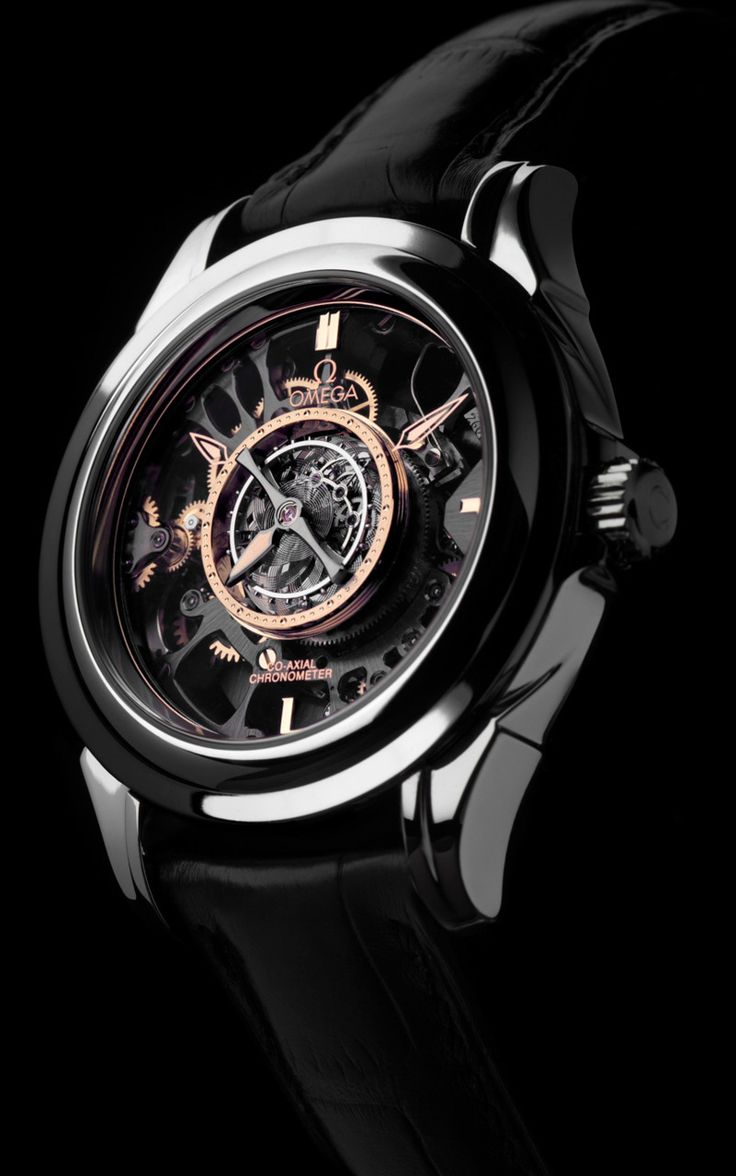 ♂ masculine and elegance black watch Omega