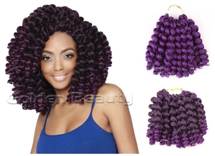 8-10 inch Wand Curl mở rộng Crochet tóc Ombre Havana mambo twist bện tóc tóc Tổng Hợp Crochet Dải Bện tóc phần mở rộng