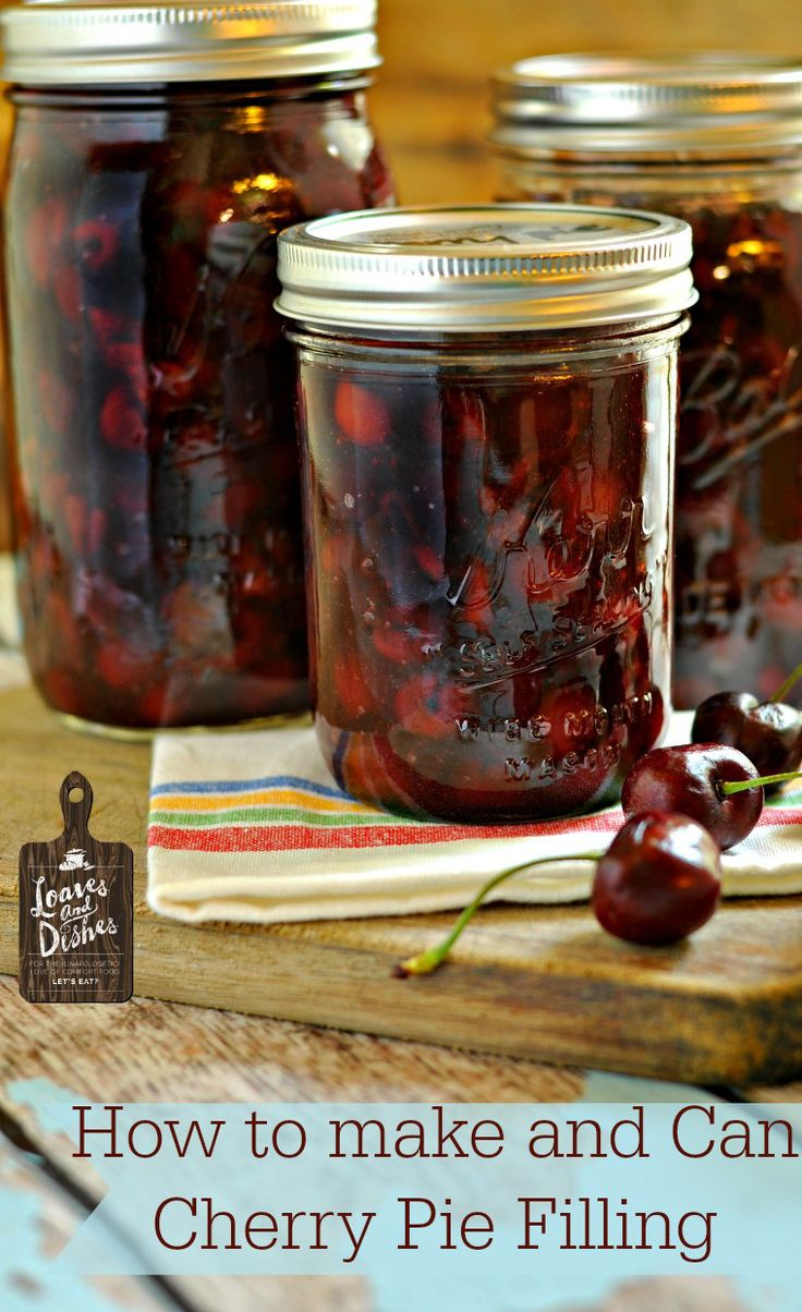 Interested in learning how to can? Learn how here and make delicious cherry pie filling. @loavesanddishes.net