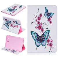 For Samsung Galaxy Tab E 9.6 T560 Cover Patterned PU Leather Tablet Shell for Samsung Galaxy Tab E 9.6 T565