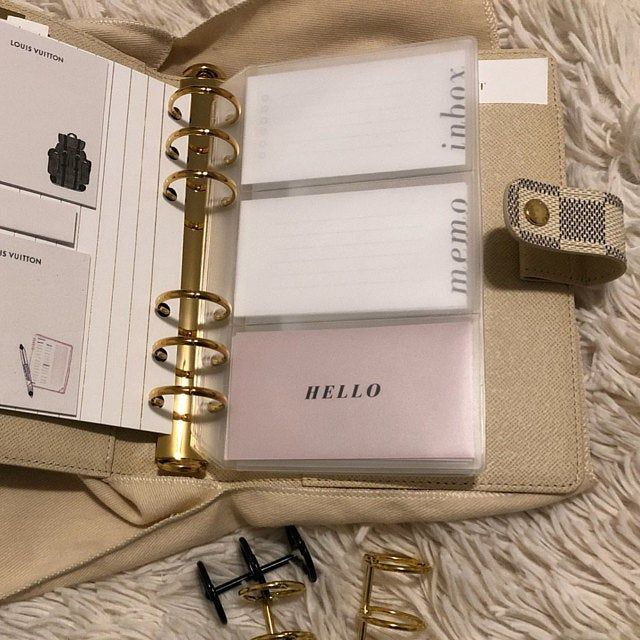Filofax KikkiK LV A5 Dividers and Tabs for 6 Hole Ring Binders