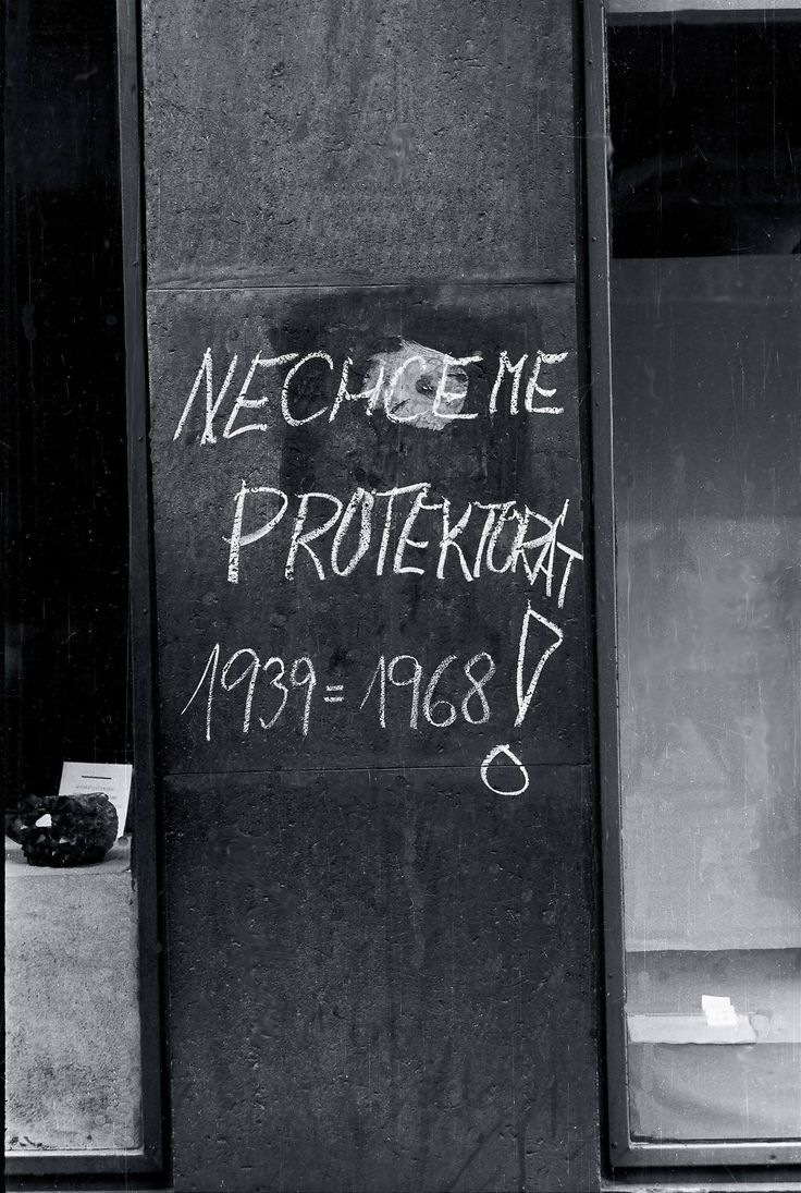 """""""We don't want Protectorate 1939=1968!"""" August 21, 1968. Brno, Czechoslovakia.  For a minute, I thought this was Ukraine, 2014."""