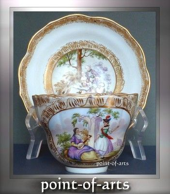 Meissen Porcelain Coffee Gedeck 1850 antique porcelain coffee cup & saucer 1850