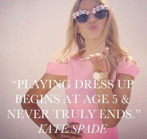 playing dress up begins at age 5 & never truly ends {kate spade}
