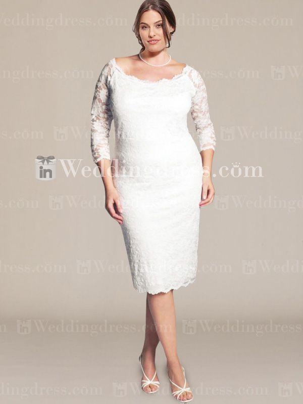 208 best Short Plus Size Wedding Dress images on Pinterest | Wedding ...