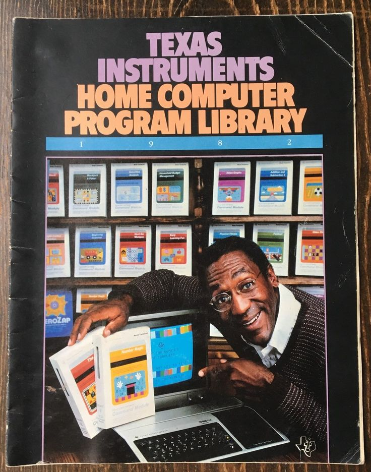 1982 TEXAS INSTRUMENTS HOME COMPUTER PROGRAM LIBRARY BOOKLET MANUAL - BILL COSBY