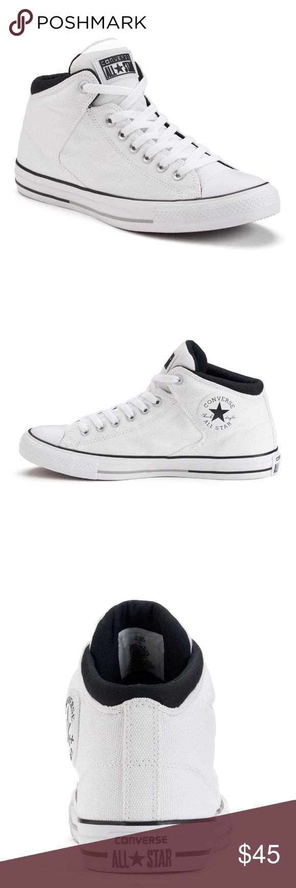 Men's Converse Chuck Taylor All Star Sneakers Add casual comfort to your everyday look wearing these men's High Street sneakers from Converse.  *Padded collar & Tongue *Inner elastic for easy on/off *Vulcanized sole *Canvas upper/lining, rubber outside, round toe, Lace up closure and padded footbed.  **New in box** Converse Shoes Sneakers