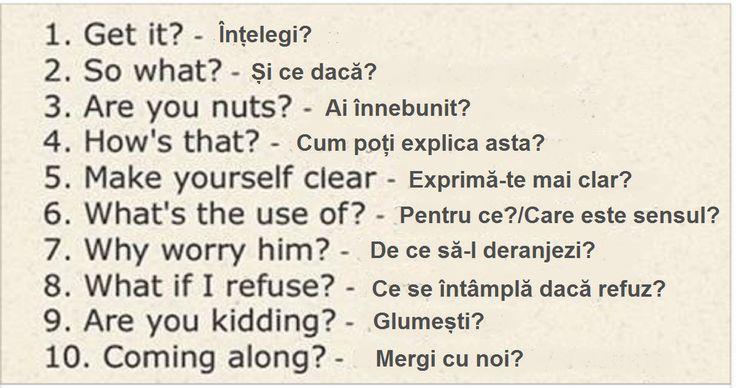 Expresii utile și necesare pentru o comunicare ușoară în limba engleză - Fasingur